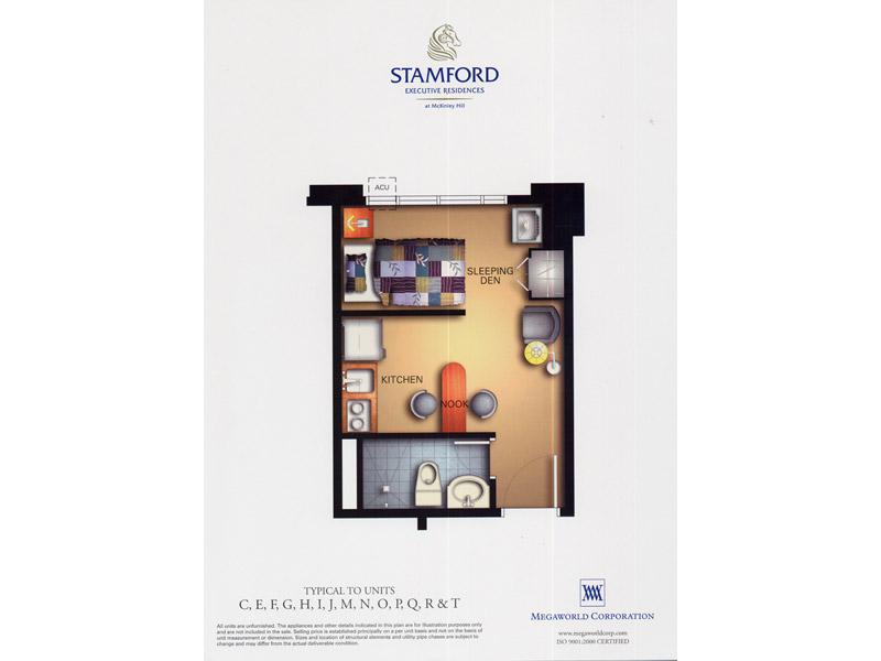 Stamford Executive Residences Unit Layout