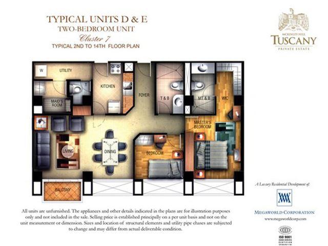 Tuscany Private Estates Unit Layout