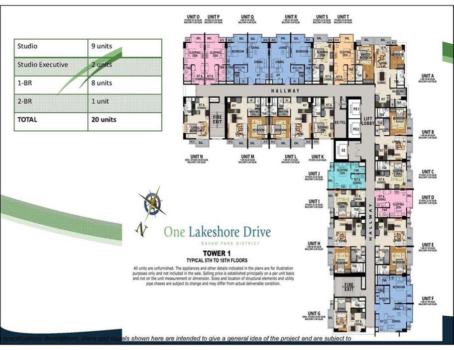 One Lakeshore Drive Model Layout