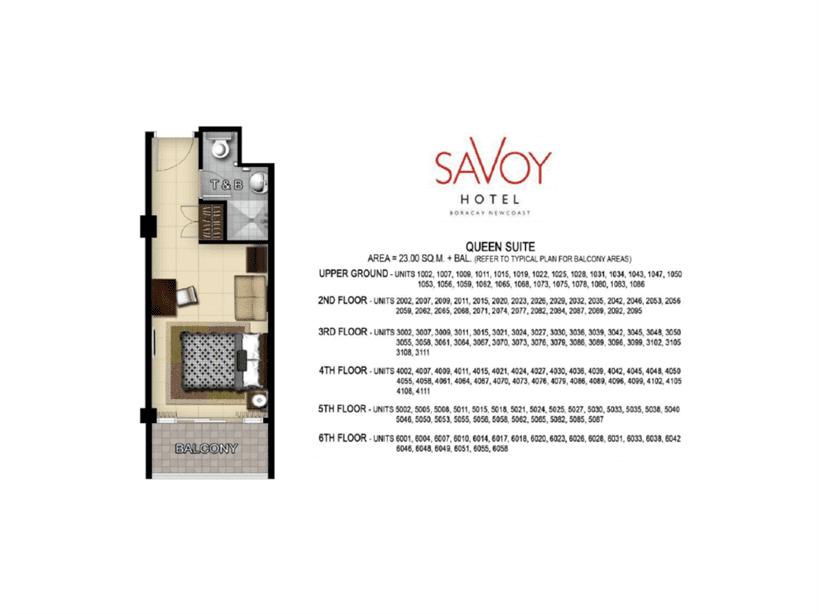 Savoy Hotel Unit Layout