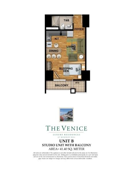 The Venice Luxury Residences Unit Layout