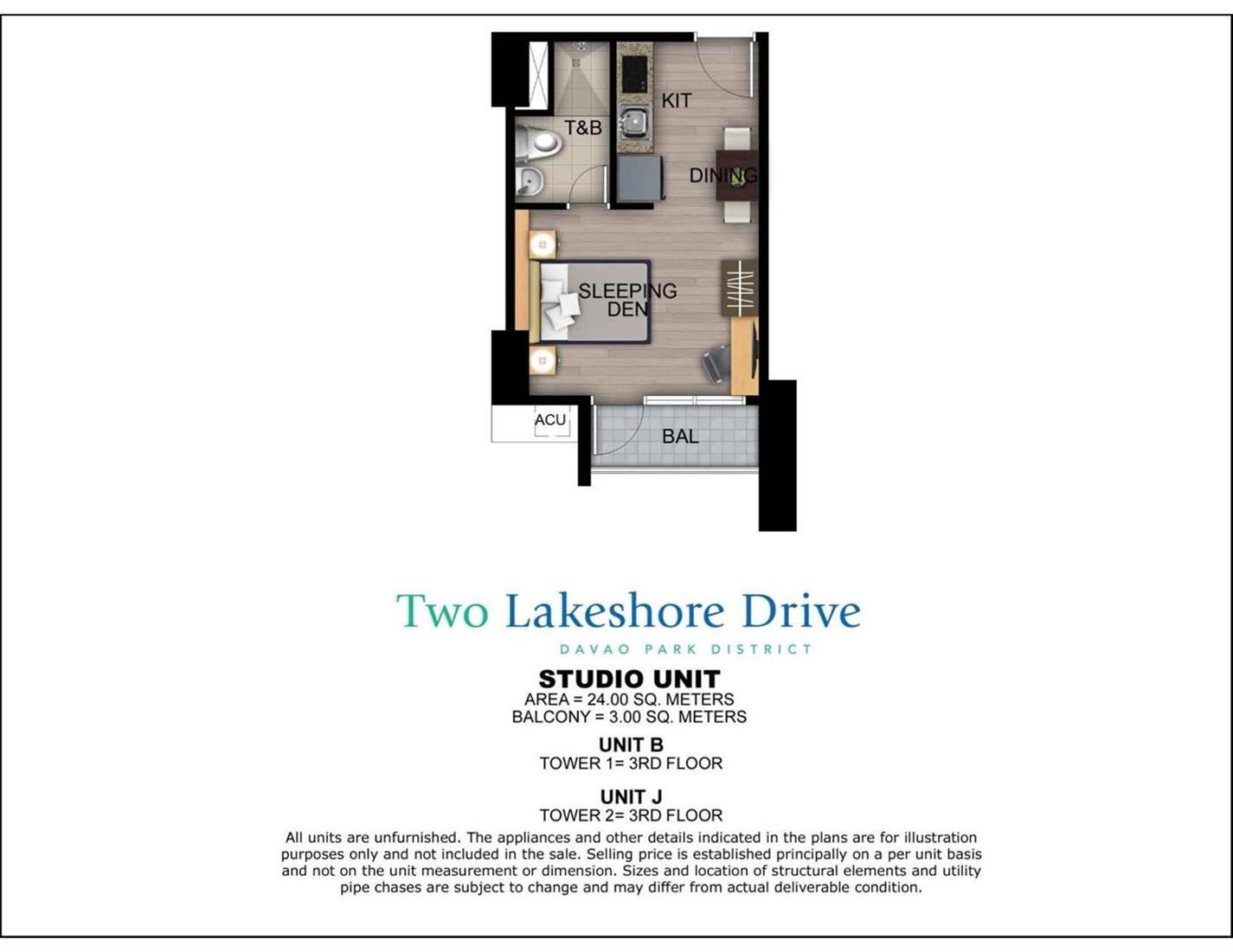 Two Lakeshore Drive Unit Layout