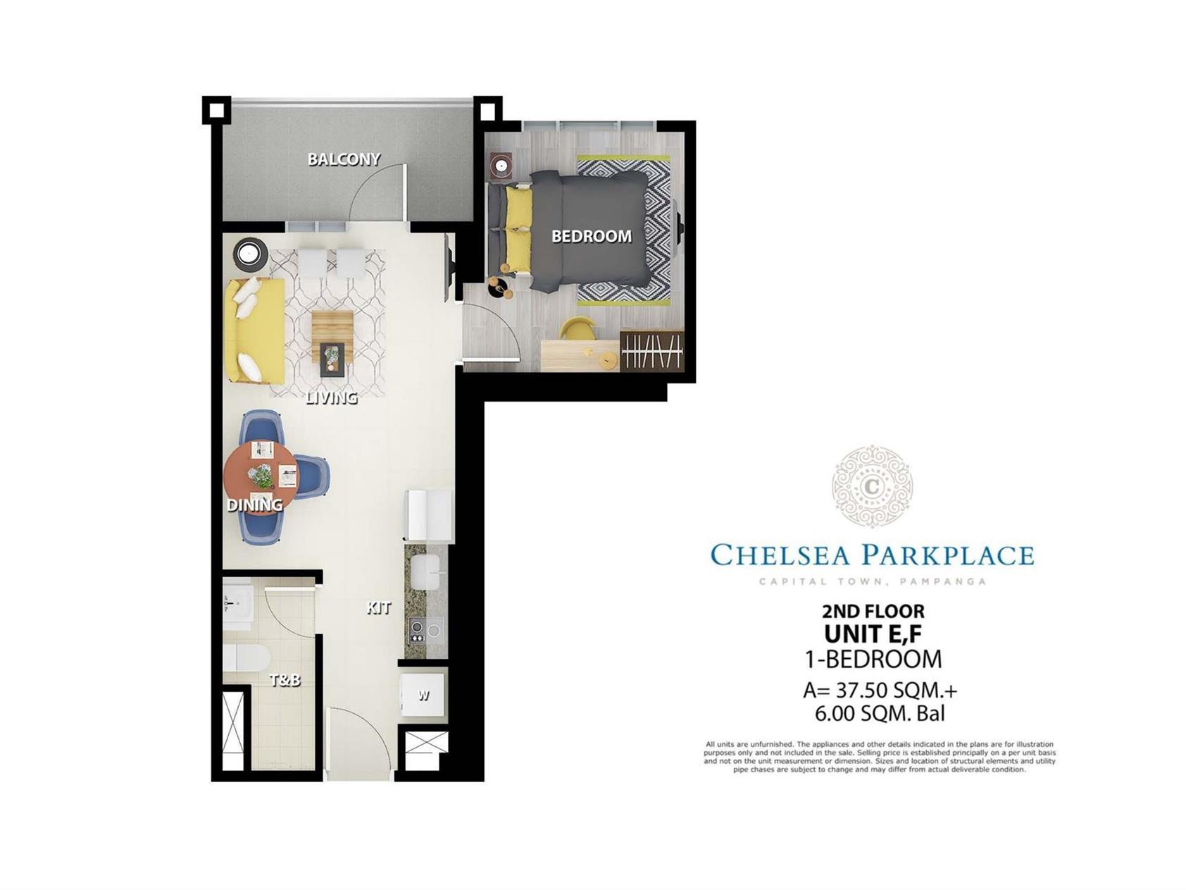 Chelsea Parkplace, Unit Layouts
